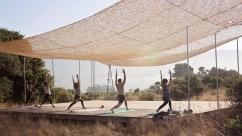 outdoor yoga big mesa farm